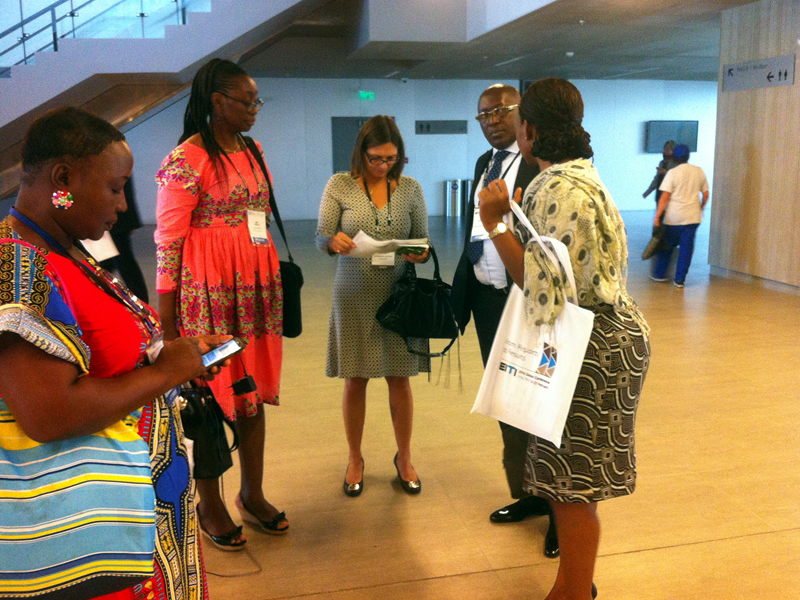 EITI International Secretariat Staff- Tove engage SLEITI MSG at the 7th EITI Global conference in Lima